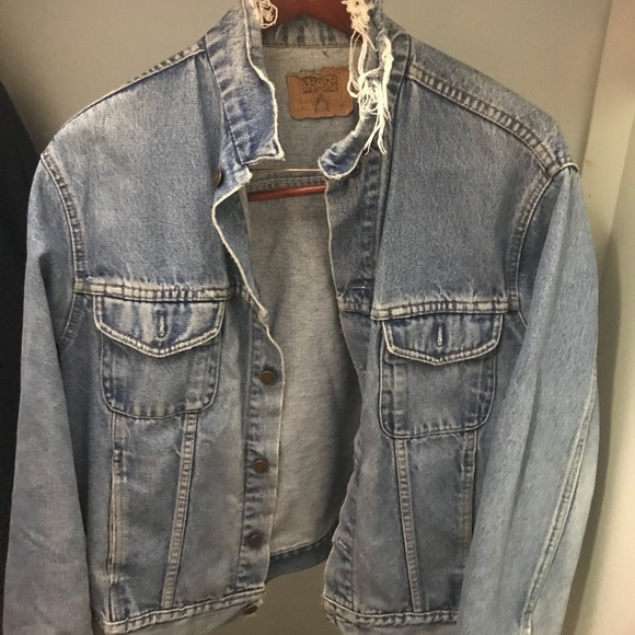 Other - Vintage Distressed Denim Jacket